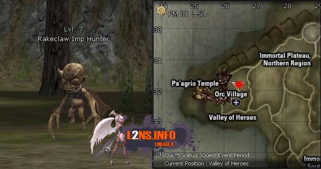 7 Rakeclaw Imp Hunter