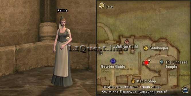 Квест на профу Human Wizard | Parina